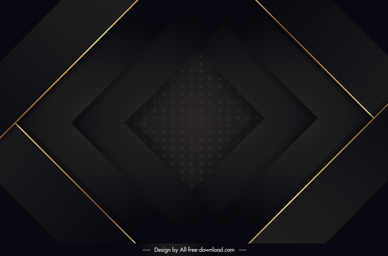 decorative background template elegant dark 3d geometric layers