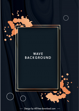 decorative background template elegant dark grunge frame