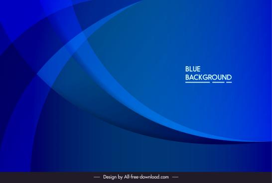 decorative background template modern dark blue dynamic curves