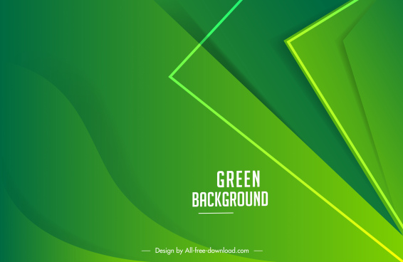 decorative background template modern green geometric curves