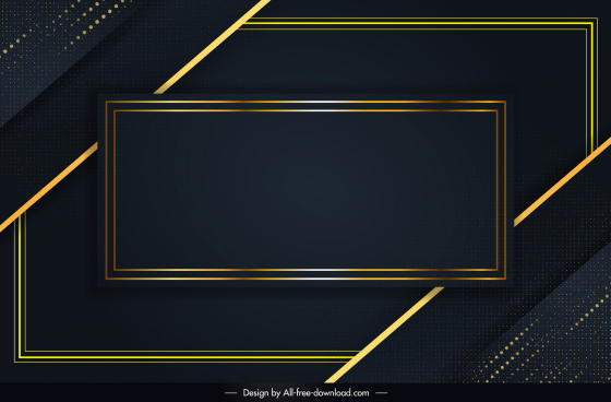 decorative background template shiny luxury dark frames sketch