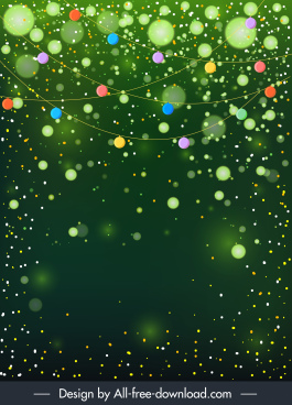 decorative background template sparkling bokeh light effect