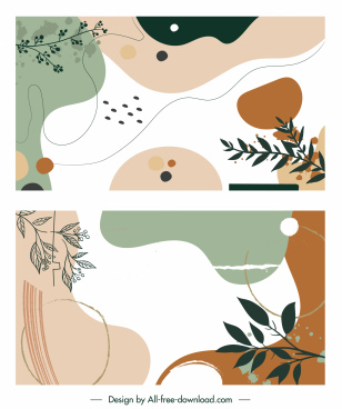 decorative background templates classic abstract nature design