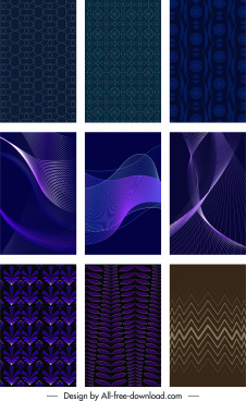 decorative background templates dark modern classic 3d flat