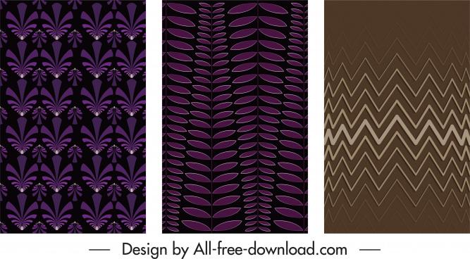 decorative background templates dark repeating flat symmetric decor