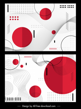 decorative background templates flat geometric decor