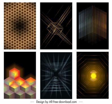 decorative background templates modern 3d geometric decor
