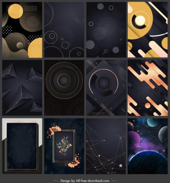 decorative background templates modern dark geometric decor