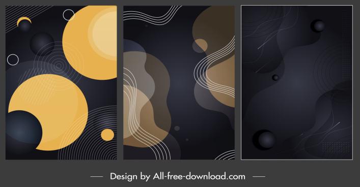 decorative background templates modern elegant dark decor