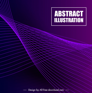 decorative background violet 3d dynamic technology design