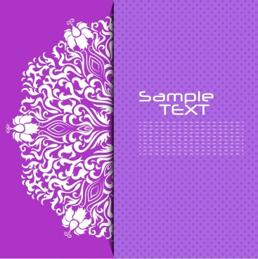 decorative background violet design curved symmetric lines