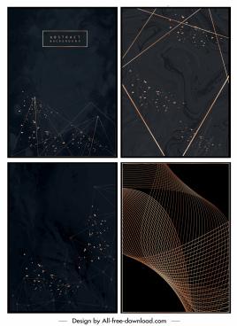 decorative backgrounds dark modern abstract dynamic design