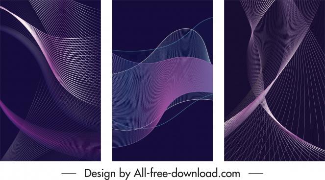 decorative backgrounds modern 3d dynamic violet decor