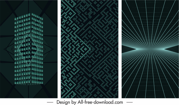 decorative backgrounds modern dynamic 3d shapes light effect