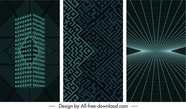 decorative backgrounds modern dynamic 3d shapes light effect