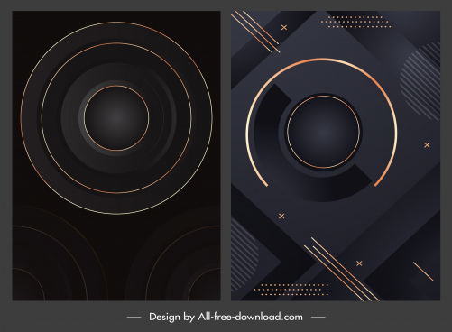 decorative backgrounds shiny dark design circles sketch