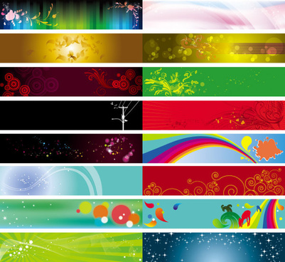 decorative banner background vector
