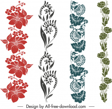 decorative border templates elegant classic botanical design