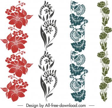 decorative border templates elegant classic botanical design