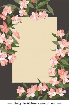 decorative card background flowers sketch elegant classic
