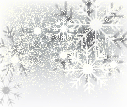 decorative christmas background with snowflakes crystals