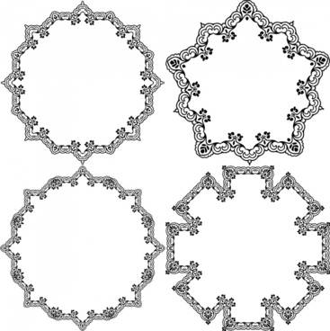 684d23070b decorative circles illustration with black white classical border
