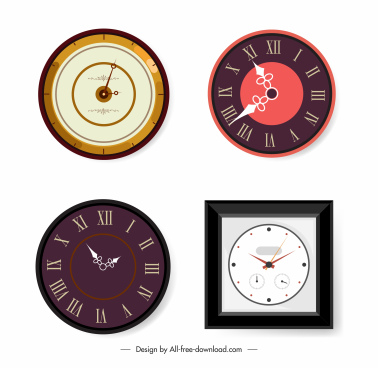 decorative clock icons elegant modern decor