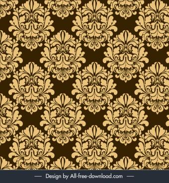 decorative cover template elegant retro symmetric repeating design