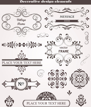 decorative design elements frames vector