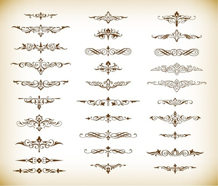 decorative elements vector graphics set