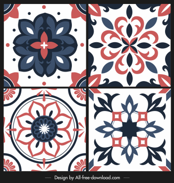 decorative european patterns colorful classic symmetric shapes