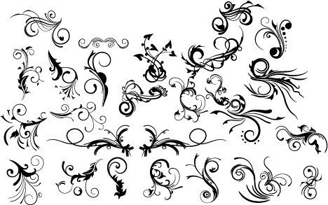 decorative floral design pack vector