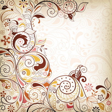 decorative floral pattern vector background art