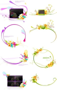 decorative flower pattern vector fashion