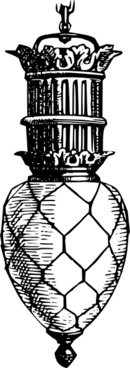Decorative Glass Antique Lamp clip art