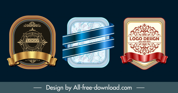 decorative label templates shiny modern elegant luxury design