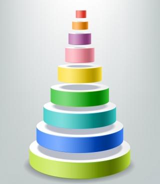 decorative layers design element colorful 3d circles