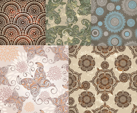 decorative pattern background art vector