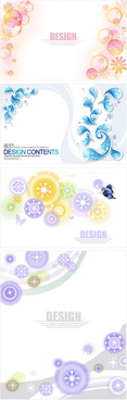 decorative pattern circle shape backgrounds vector