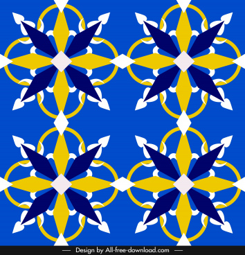 decorative pattern classical european symmetric shape
