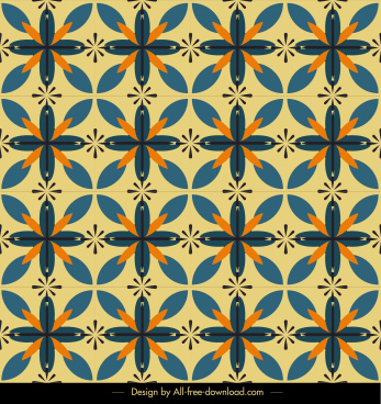 decorative pattern classical repeating symmetric botanical sketch