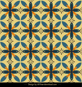 decorative pattern classical repeating symmetric botanical sketch