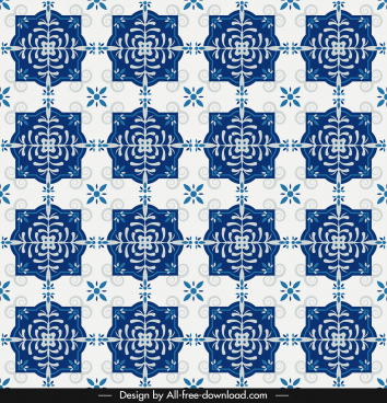 decorative pattern classical repeating symmetric design blue decor