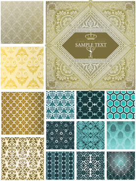 decorative pattern cloth background vector