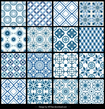 decorative pattern collection flat repeating symmetric design