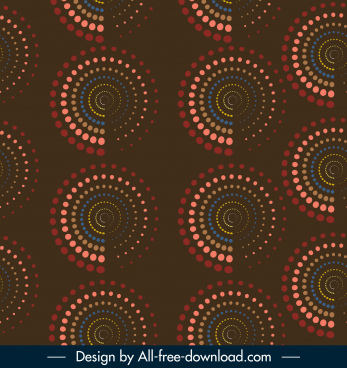 decorative pattern colored repeating spiral circles decor