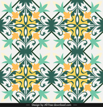 decorative pattern colorful classical symmetric flat design