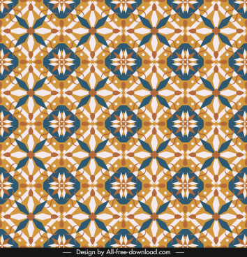 decorative pattern colorful classical symmetrical repeating shapes