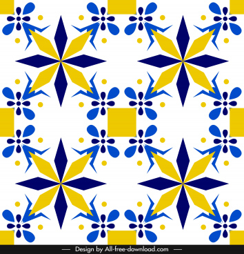 decorative pattern colorful elegant abstract symmetric flat design