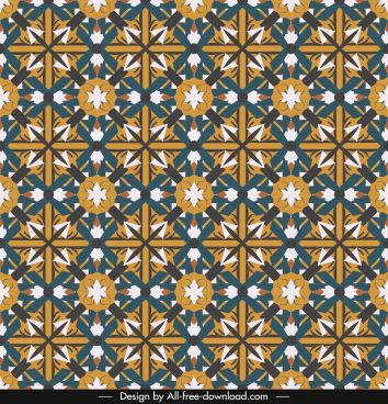 decorative pattern colorful flat symmetric repeating illusion